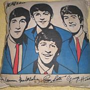 SOLD Original Beatles Memorabilia: Beatles Pillow