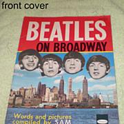 SOLD Original Beatles Memorabilia: Beatles on Broadway Booklet 1964