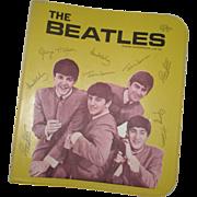 SOLD Original Beatles Memorabilia:  Yellow Vinyl School Binder