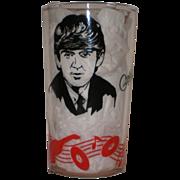 SOLD Original Beatles Memorabilia: George Harrison Drinking Glass