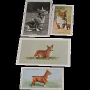SOLD 4 Vintage Welsh Corgi (Pembroke) Tobacco Collector Cards