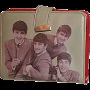 SOLD Original Beatles Memorabilia:  Beige Vinyl Wallet