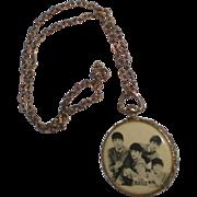SOLD Original Beatles Photo Medallion Necklace 1964