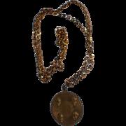 SOLD Original 1964 Beatles Medallion Necklace