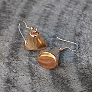 Bronze and Copper Bell-shaped Earrings