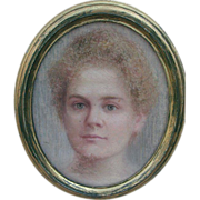 Pastel painting of Young Woman