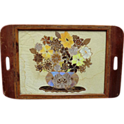 Butterfly wing tourist Tray from Brazil c. 1920