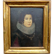 Historic Oil Painting of Woman wearing a Ruff