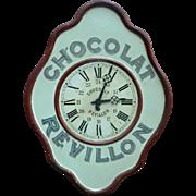 Vintage Advertising Clock 'Chocolat Revillon' from France