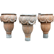 Set of 3 Tolework Rainwater Hoppers from France
