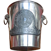 SOLD Superb Champagne Ice Bucket with Royal Crest.