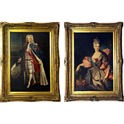 Pair of Original Framed 'Oleographs' of Scottish 'Jacobite' Royalty.
