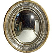 High Quality 19th C. Oval Convex Mirror