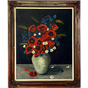 Still-Life Oil Painting of Poppies