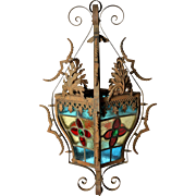 Stained Glass Hanging Lantern