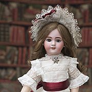 """22"""" (56 cm) French Bisque Bebe """"Dep"""" by Jumeau, with Original body, dress and b"""