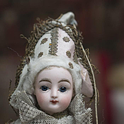 """SALE PENDING 16"""" (41 cm) Petite Antique French Bisque Polichinelle Gaultier F.G. Doll in"""