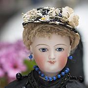 "14 1/2"" (37 cm) Very Beautiful Antique French Fashion Mona Lisa Smiling Bru, Original Bod"