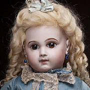 """20"""" Very Beautiful Antique French Early Bisque Bebe E.J. Doll by Emile Jumeau in original"""