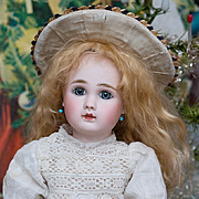 """15"""" (38 cm)  Antique French Bisque Bebe Steiner Doll,Figure A, with Original Signed Body and two antique costume (dress+coat), lovely cabinet size!"""