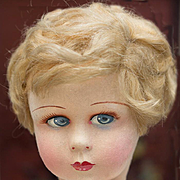 """17"""" (43 cm.) Antique French Felt Raynal dol in excellent condition, c.1930"""