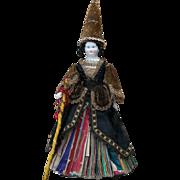 "12 1/2"" (32 cm) Rare Antique German All Original Porcelain Fortune -Telling Doll for ..."