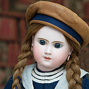 "22"" (56 cm) Antique French Bisque Bebe  Doll Phenix  by Jules Steiner in Original Sailor"