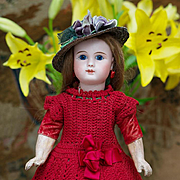 12 in (30 cm)  Antique French Tiny Bisque Bebe Doll with closed mouth, Figure A, by Jules Stei