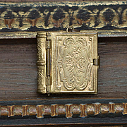 Antique French Miniature Small Ormolu Religious Book with 12 pictures for a French Fashion Dol