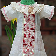 Antique Original Muslin Jumeau bebe Presentation chemise for doll about 18-19in