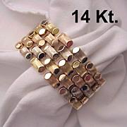 14 Kt. Italian 3 Color Gold Bracelet - Circa 1945