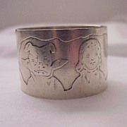 Simpson, Hall, Miller Co. Sterling Baby / Child's Napkin Ring # C 2223