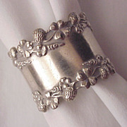 Sterling 4 Leaf Clover Napkin Ring - Circa 1905