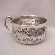 SOLD Sterling Baby Cup 'See Saw Margery Daw' - Dated 1912