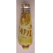 SALE English Cameo Scent Bottle Circa 1890