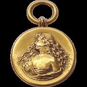 14Kt. Art Nouveau Watch Fob - Pendent - Circa 1900