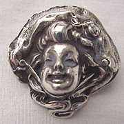Unger Bros. Sterling Bonnet Lady Pin Circa 1905