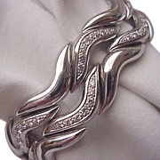 Gubelin 18kt. White Gold Bracelet with Diamond Accents - Circa 1980