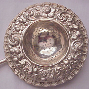 Black, Starr & Frost Sterling Repousse Tea Strainer Circa 1900