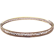 14kt. Yellow Gold Open Work Bangle - Circa 1910
