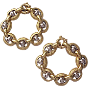 Pair of 18kt. Yellow and White Gold Greek Key Design Bracelets - Circa 1980