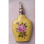 SOLD Beautiful Sterling & Guilloche Enamel Purse Perfume - Circa 1925