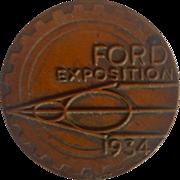 1934 Ford Exposition A Century of Progress Chicago Coin or Token