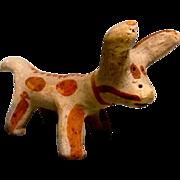 Vintage Mexican Folk Art Clay Cow or Burro