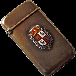 SALE Coat of arms of Castile and León Spain Sterling Match Vesta