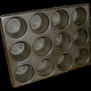 19th C. Tin Kreamer Popover Pan Baking Mold