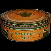 SALE Banquet Tea Advertising Tin - McCormick Baltimore