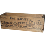 Fairmont Creamery Wooden Cheese Box - Quality -Butter - Eggs - Cheese - Poultry