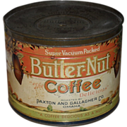 Large Butter-Nut Coffee Tin c. 1920s - Paxton Gallagher Omaha