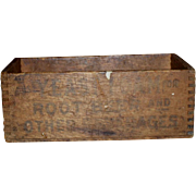 c.1900 Yeast Foam Advertising Box Crate - Wooden